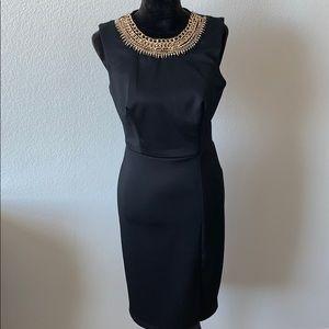Bisou Bisou by Michele Bohbot Black Jeweled Dress